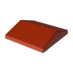 Daszek polimerobetonowy dwuspadowy 31 x 120 ceglasty