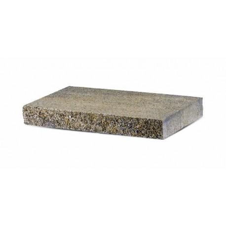 Daszek betonowy płaski łupany 2 stronnie