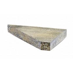 Daszek betonowy płaski lewy narożny JN7