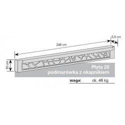 Podmurówka betonowa 20 okapnik