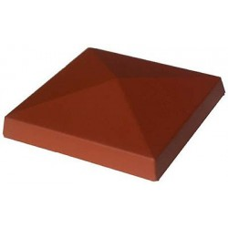 Daszek polimerobetonowy czterospadowy 33 x 33 ceglasty