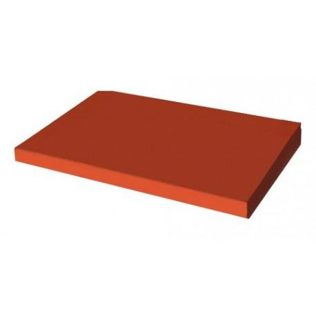 Daszek jednospadowy na słupek 36 x 120 x 5/4 ceglasty